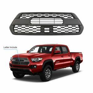 Mesh Bumper Hood Abs Plastic Grille Assembly For 2016 2019 Toyota Tacoma Trd Pro