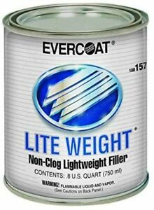 Evercoat Fibreglass 157 Non Clog Light Weight Body Filler 1 Quart New Free Ship