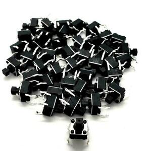 100 X Momentary 4 Pin Tactile Push Button Switch 6x6x7 3 Mm Ships From Usa
