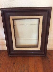 Vintage Mid Century Carved Wood Mexican Style Picture Frame Wooden Retro