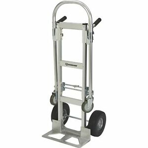 Strongway 600 880 lb Capacity 2 in 1 Convertible Aluminum Hand platform Truck