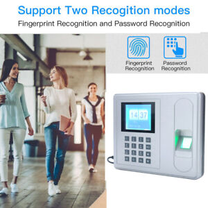 2 4 Biometric Fingerprint Time Attendance Machine Clock Checking in Reader I0e1