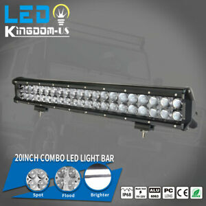 20inch 126w Led Light Bar Work Flood Spot Beam Driving Offroad 4wd Truck Fog Suv