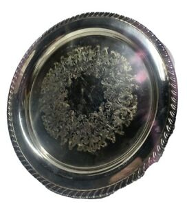 Vintage Oneida Silverplate Round 10 25 Silver Tray Wm A Rogers Series