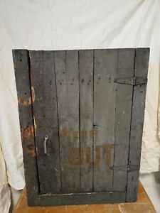 Primitive Wood Green Painted Wall Medicine Cabinet Industrial