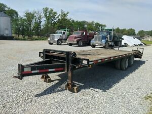 Pintle Hitch Cornpro 20ft Trailer Plus 5 Adjustable Beaver Tail With Ramps