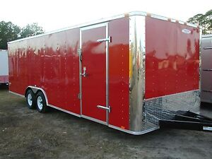 New 8 5x20 8 5 X 20 Enclosed Carhauler Cargo Trailer