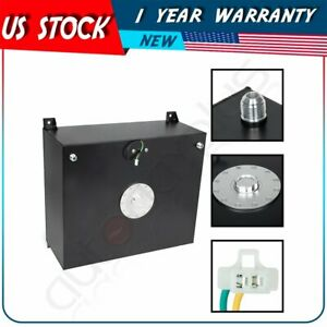 20 Gallon 76l Coat Aluminum Racing Drift Fuel Cell Tank Cap Level Sender Black