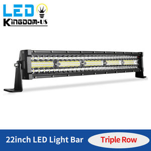 450w 22inch Led Light Bar Tri row Combo Work Driving Ute Truck Suv 4wd Boat 24