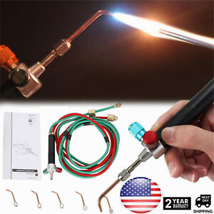 1 Set With 5 Tips Soldering Cutting Torch Mini Welding Torch Little Smith Gas Us