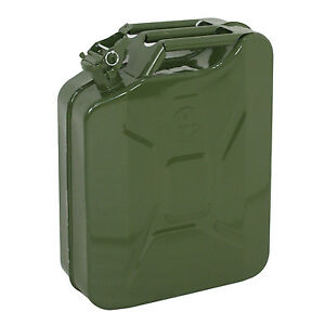 Green Jerry Can Gasoline Fuel Can Steel Tank 5 Gallon 20l Emergency Backup