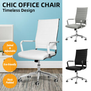 Modern Computer Desk Office Chair Executive Task Swivel Chairs Padded Adjustable