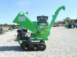 Peruzzo Tb100c drum Type Palm Frond Chipper shredder self powered tracked 4 cap
