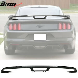 Fits 15 20 Ford Mustang 2018 Performance Pack Style Trunk Spoiler Gloss Black