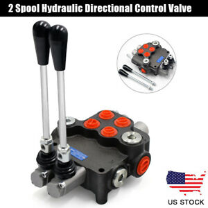 2 Spool Hydraulic Directional Control Valve For Tractors Loaders Machinery 20mpa
