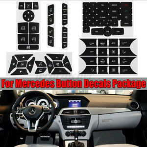 For Mercedes Benz Button Repair Package Steering A C Window Decals Stickers