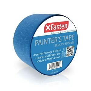 Xfasten Blue Painters Tape 3 Inches X 60 Yards Blue