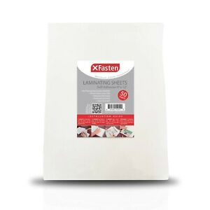 Xfasten Self adhesive Laminating Sheets 9 X 12 Inches 50 pack 4 76 Thickness