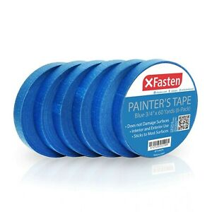 Xfasten Blue Painters Tape 3 4 Inches X 60 Yards pack Of 6