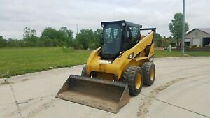 Skid Loader 2012 Cat 252b3 With Bucket And Second Set Of Solid Tires 1100 Hrs