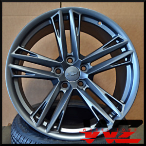 20 Gun Metal Staggered Wheels Rims Set Zl1 1le Style Fit Chey Chevrolet Camaro