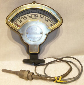 Antique Motometer Temperature Gauge Industrial Auto Thermometer Car Truck Works