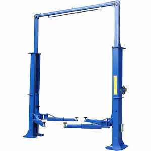 Tuxedo 2 Post Clear Floor Electric Hydraulic Vehicle Lift 15 000 Lb Cap Tp15kcx