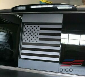 2013 2020 Nissan Titan Back Middle Window American Flag Decal Sticker Matt
