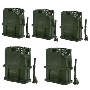Tank Holder 5 Gallon 20l Gas Gasoline Fuel Jerry Can Army Backup Metal Steel