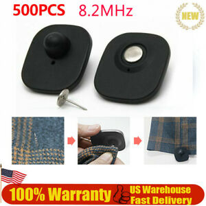 Checkpoint Security Hard Tags Clean Assort eas 8 2mhz Antitheft With Pins 500pcs