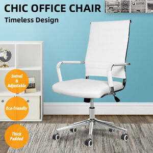 Computer Desk Chair Office Executive Task Swivel Padded Chair Adjustable Wheels