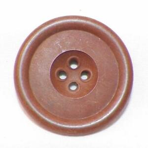 Antique Goodyear Hard Rubber Button Brown Patent 1851 4 Sew Thru Holes 5