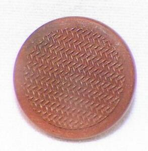 Antique Goodyear Hard Rubber Button Brown Herringbone Flat Small Self Shank 9