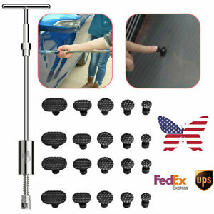 Us Pdr Tool Car Repair Kit Slide Hammer Paintless Hail Dent Removal Puller T Bar