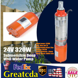320w Dc 24v Solar Deep Well Water Pump Submersible For Farm Irrigation S steel
