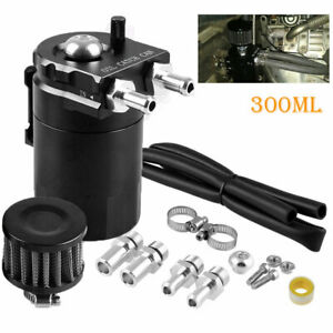 Oil Catch Reservoir Breather Can Tank Air Filter Kit Cylinder Aluminum Engines