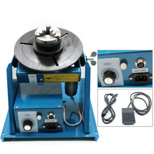 110v Rotary Welding Positioner Turntable Table Kit With 2 5 Chuck 0 90 10kg