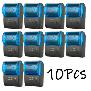 10pcs 58mm Bluetooth Wireless Thermal Receipt Printer Ios Android Windows C1q9