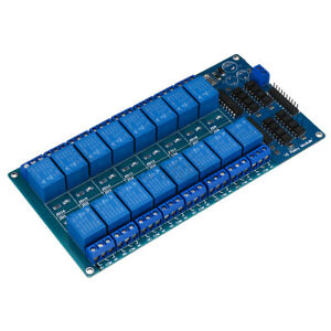 16 Chanale Relay Module Board With Optocoupler Kit For Pic Avr Dsp Arm Control