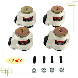 Set Of 4 Leveling Caster Gd 80s Stem Mounted Nylon Wheel Leveling Caster 1102lbs
