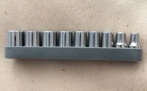 9pc Chrome Vanadium 1 4 Inch Socket Set Metric 5mm To 13mm