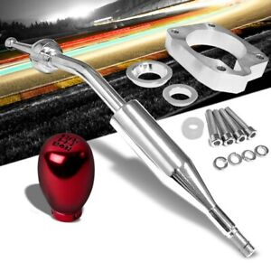 Manzo Short Shifter Red Type R Black 5 Speed Knob For 83 87 Corolla Gts Ae86 Mt