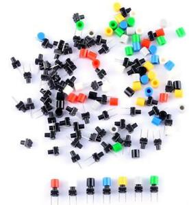 100 Pack 6x6x8mm 2 Pin Pcb Breadboard Momentary Tactile Push Button Switch 50ma