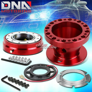 Red 6 Hole Steering Wheel Hub Adaptor Quick Release Fit Miata Mx5 Rx7 Rx8 626