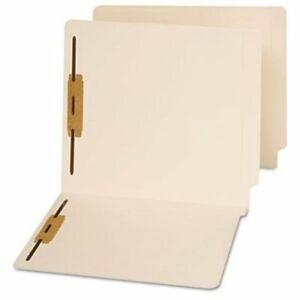 Universal Office Products 13120 End Tab Folders Two Fasteners Letter Manila