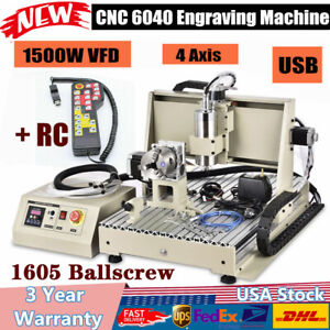 1 5kw Usb 4axis Cnc6040 Router Engraver Engraving Machine Mill 3d handwheel Fast
