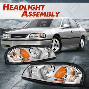 Replacement Headlights Assembly Fits 2000 2005 Chevy Impala 10349961 10349960