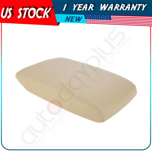 For Toyota Highlander 2008 2013 Center Console Armrest Cover Lid Leather Beige