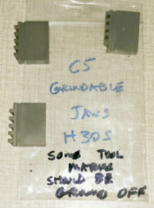 Emco Compact 5 Lathe 3 Jaw Chuck Parts Grindable Blank Jaw Set H30s