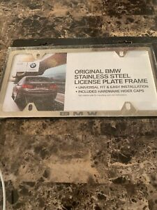 Original Bmw Stainless Steel License Plate Frame New